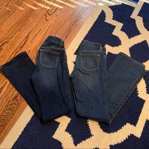 2 pair of Old Navy bootcut jeans